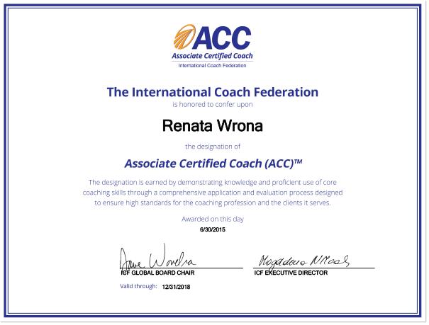 Certyfikat ACC